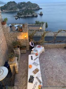 Sicile incentive soirée apéritif face à la mer